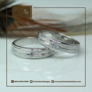 Cincin Kawin Tunangan Exclusive Platinum Emas Putih PT0032WG