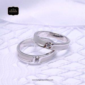 Cincin Kawin Tunangan Couple Palladium Platinum PD0148PT