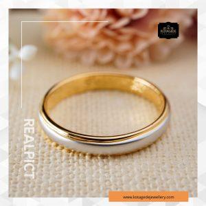 Cincin Kawin Tunangan Emas Kuning Elegant YG0253
