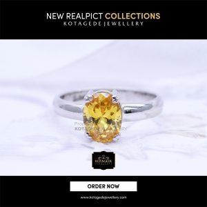 Cincin Kawin Tunangan Emas Putih Yellow Diamond WG0108