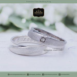 Cincin Kawin Tunangan Palladium Couple Putih PD0046