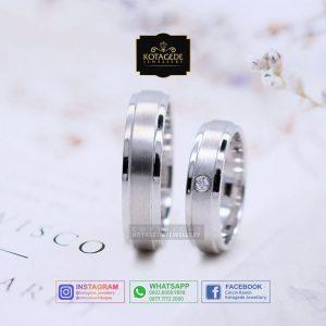 Cincin Kawin Tunangan Palladium Couple Simple PD0059