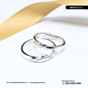 Cincin Kawin Tunangan Palladium Emas Putih Couple PD0210WG