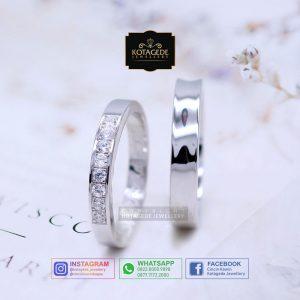 Cincin Kawin Tunangan Palladium Emas Putih PD0075WG