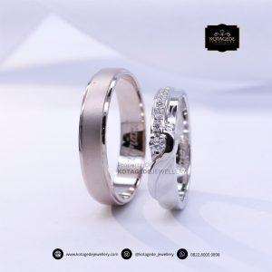 Cincin Kawin Tunangan Palladium Emas Putih PD0146WG
