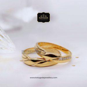 Cincin Kawin Tunangan Palladium Emas Rose Gold PD0095RG
