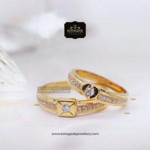 Cincin Kawin Tunangan Palladium Emas Rose Gold PD0077RG