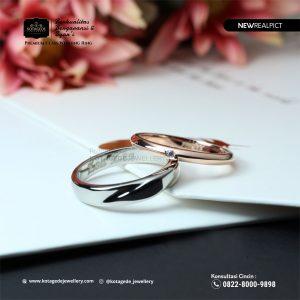 Cincin Kawin Tunangan Platinum Rose Gold Elegant PT0219RG