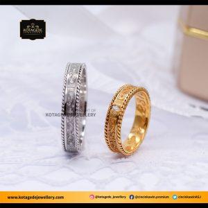 Cincin Kawin Tunangan Platinum Emas Kuning PT0077YG
