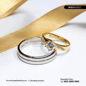 Cincin Kawin Tunangan Platinum Emas Kuning PT0226YG