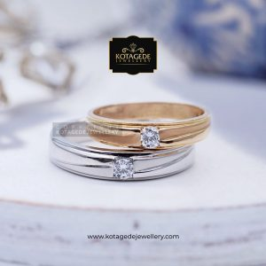 Cincin Kawin Tunangan Platinum Emas Rose Gold PT0049RG