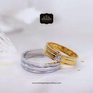 Cincin Kawin Tunangan Platinum Emas Rose Gold PT0073RG