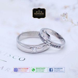 Cincin Kawin Tunangan Platinum Palladium PT0065PD