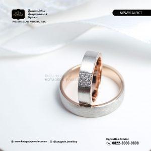 Cincin Kawin Tunangan Rose Gold Doff Couple RG0215RG