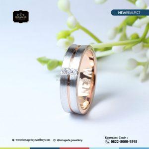 Cincin Kawin Tunangan Rose Gold Doff RG0231