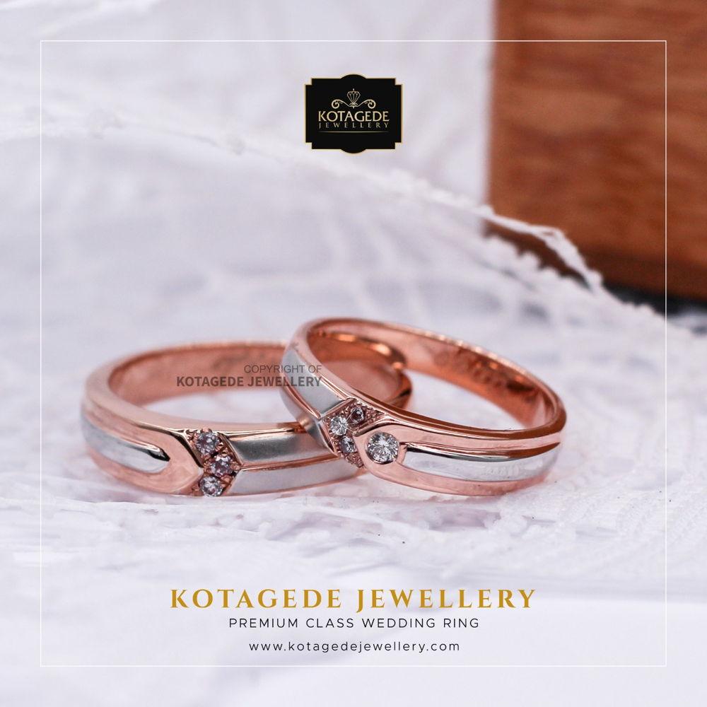 Cincin Kawin Tunangan Rose Gold Palladium Couple RG0024PD