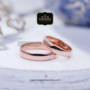 Cincin Kawin Tunangan Simple Elegant Rosegold RG0124RG
