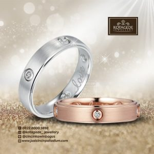 Jual Cincin Perak Couple Ukir Nama