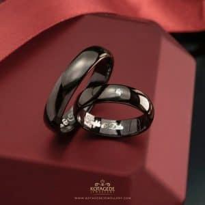 cincin kawin tunangan hitam Platidium couple ptd0313ptd